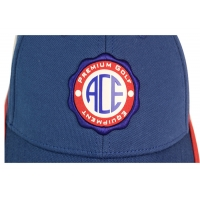 Wholesale ACE 6 Panels Unisex Custom Stagger Color Rubber Patch Craft Logo with Velcro Closure Buckle Baseball Sports Cap Hat from china suppliers