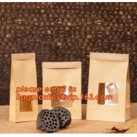 Wholesale Cheap logo printed resealable zip lock food snacks kfraft paper zipper bag with window,Resealable Zip lock and Heat Seal from china suppliers