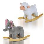 China Baby Kids Plush Toy Rocking Horse Elephant Sheep Style Ride on Rocker/ Songs for sale
