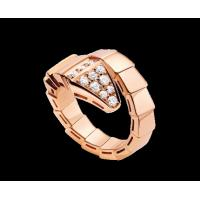 Best Bvlgari Serpenti 18 kt pink gold ring with pavé diamonds Ref. AN855318 wholesale