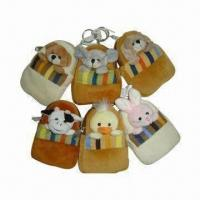Wholesale Plush Bags, Made of Polyester Fiber, Measuring 12 x 8cm from china suppliers