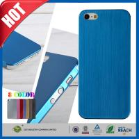 Wholesale Blue Ultra Thin Brush Shockproof Non Slip Cell Phone Carrying Case for Iphone 5 5s from china suppliers