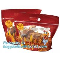 Wholesale Laminated Hot Roast Chicken Bag, Rotisserie Chicken Bags, Microwave Grilled Chicken bag grease proof bags, generic zip from china suppliers
