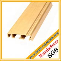 Quality golden color copper alloy extrusion profile sections for windows and doors for sale