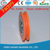 Wholesale sliding door rollers sliding door nylon pulley wheels with bearings from china suppliers