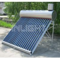 Evacuated Tube Low Pressure Solar Water Heater Free Maintenance CE Approved