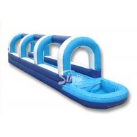 Wholesale Outdoor kids parties blow up inflatable water slip and slide with pool from china suppliers