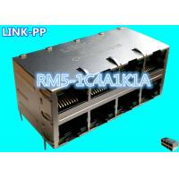 China RM5-1C4A1K1A 2x4 Eight Ports Stacked Rj45 Jack LPJ47403AWNL Layer 4 switches on sale