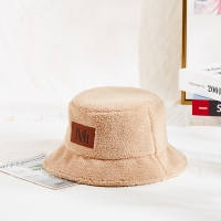Wholesale 58cm  Warm Winter Plush Faux Mink Fur Bucket Hat from china suppliers