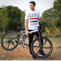 Wholesale Lithium Battery Powered Bikes For Adults , Folding Electric Mountain Bike from china suppliers