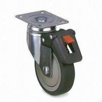 Wholesale PUP/TPR Industrial Caster Wheel with 100mm Outside Diameter and 100kg Weight from china suppliers