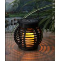 Wholesale Customized Size Solar Garden Lights , Solar Mini Rattan Basket Round from china suppliers