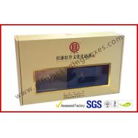 Wholesale Khaki Window Strong Paper Board Packaging Gift Boxes Elegant Design from china suppliers