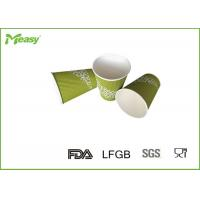 Wholesale 12oz Green Ripple Paper Cups , Paper Coffee Cups For Cafe , Hotel , Restaurant from china suppliers