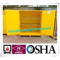 Buy cheap Yellow Industrial Safety Cabinets , Flame Proof Storage Cabinets For Waste from wholesalers
