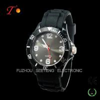 One of the most popular quartz silicone watches color customized  for promotion