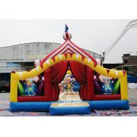 Wholesale Circus Clown Themed Inflatable Fun City Amusement Park With Slide Inside For Kids from china suppliers