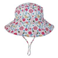 Wholesale Baby Toddler Plaid Reversible Sun Protection Animal Hat Bucket caps from china suppliers
