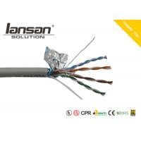 Buy cheap Grey Color Cat5E FTP 24AWG PVC Network Cable Round Shaped RJ45 With PVC Jacket from wholesalers