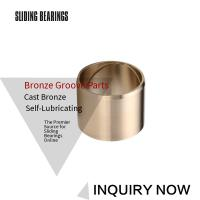 China Centrifugal Casting Bronze Sleeve Bearings With Oil Grooves Brass Parts on sale