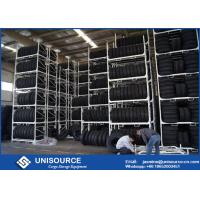 Wholesale Vertical Storage Warehouse Tire Racks Max Stack 4 Layers With Metal Stillages from china suppliers