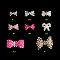 Best Fashion Nail Art Tips Stickers Deco Pearl Bow Alloy Jewelry Glitter RhinestoneML1-8 wholesale