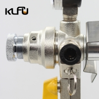 Wholesale 2000PSI Co2 Regulator Pressure Relief Valve Brass material from china suppliers
