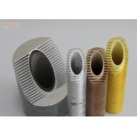 Integrated Aluminum Spiral Finned Tube for Automotive Engineering 0.8mm - 0.9mm Thickness