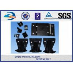 China 2 / 4 / 6 / 8 Holes High Tensile Strength Plain Rail Tie Plate Rail Base Plate for sale