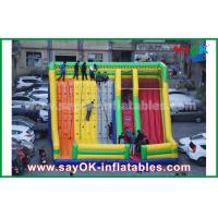 Wholesale 9.5*7.5*6.5m Colorful Inflatable Bouncer Slide With Climbing Wall For Amusement Park from china suppliers