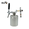 Buy cheap Beer Keg 170oz 5L Pressurized Beer Growler Bottle CO2 Regulator Stainless Steel from wholesalers