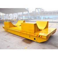 China Railway electric flat bed trailer for steel foil coils handling with V-frame on sale