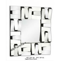 Square Stella 3D Wall Mirror For Hotel / Home Beveled Edge Mirror for sale