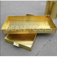 China Non sparking tank tray , brass or copper material 120*120*50mm, 100*50*150mm for sale