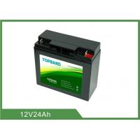 China Black Color UPS Rechargeable Batteries 12V 24Ah 2 Years Warranty ISO9001 on sale