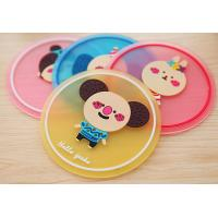 Wholesale Lovely Soft Silicone Cartoon Waterproof Anti-Slip Heat Insulation Coaster Cup Mat from china suppliers