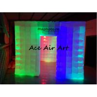 Wholesale portable exhibition display inflatable photo booth enclosure/inflatable photo studio with led for sale from china suppliers