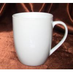 China superwhite fine quality coupe shape  12 OZ porcelain mug /milk mug for sale