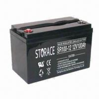 Buy cheap 100Ah SMF Battery with 12V Voltage, Suitable for UPS and Power Supply from wholesalers