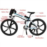 Folding Electric Battery Powered Bicycles With 6 Spokes Integrated Wheel