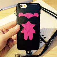 Cartoon Leather + TPU Cell Phone Case for Iphone 6s Cover Bag With String