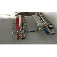 Intelligent Temperture Control Floor Heating Manifold With Two Auto Drain Valve 5 Ways
