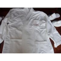 China 100% cotton hotel bathrobe with customized embroidery logo and size on sale