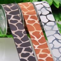 China Mother ' S Days Satin Rope Ribbon For Balloon Decoration Leopard Printing for sale