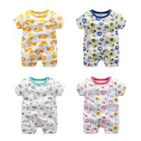China pureborn Newborn Baby Short Sleeve Bodysuit Romper Outfits for Baby Boys and Girls Summer on sale