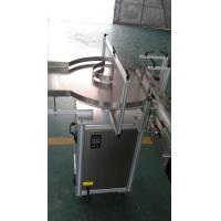 China Plastic Bottle Label Applicator Self Adhesive Labeling Machine With Turn Table for sale