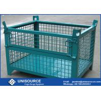 Warehouse Stackable Foldable Metal Box Wire Mesh Container For Logistics