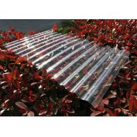 China Transparent Corrugated Polycarbonate Sheets For Roofing UV Resistant on sale