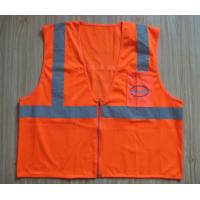 Wholesale Reflective safety vest,Mesh fabric materials,Plastic/Silver Reflective Trim,EN 471 from china suppliers