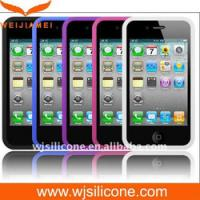 China Protective Silicone Cell Phone Case for Iphone 4/4S on sale